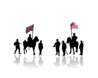 Civil war of america illustration Royalty Free Stock Images