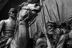 Civil war bas-relief. Detail of bas-relief statue commemorating the civil war in boston massachusetts Stock Photography
