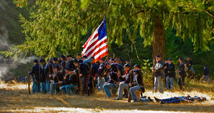 Civil war battle field Royalty Free Stock Images