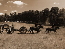 CIVIL WAR BATTLE REENACTMENT Stock Photos