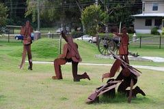 Civil War Battle Scene at Freedom Park, Helena Arkansas. Stock Image