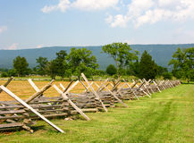 Civil War Battlefield with Fence Royalty Free Stock Photo