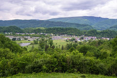 Civil War Battlefield Overlook, Saltville, Virginia, USA Stock Photos