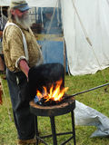 Civil War Blacksmith Reenactor Stock Images
