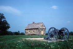 Civil war cabin. Old Civil war age log cabin Royalty Free Stock Photos