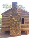 Civil war cabin. Chimney details on a civil war cabin Royalty Free Stock Photo
