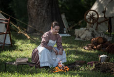 Civil War Camp Follower Royalty Free Stock Photography