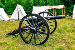 Civil war camp. A reenactment of a civil war camp in Massachusetts Royalty Free Stock Photos