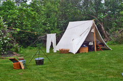 Civil War Camp Site Reenactment Royalty Free Stock Image