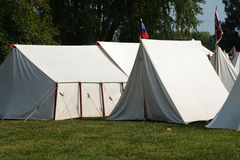 Civil war camp Royalty Free Stock Photography
