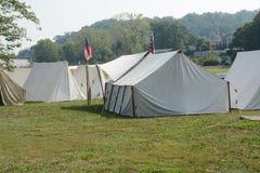 Civil war camp Stock Photography