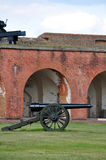 Civil War Cannon. At Fort Pulaski royalty free stock images