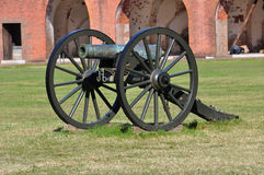 Civil War Cannon. At Fort Pulaski royalty free stock photography
