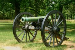 Civil War Cannon. At national battlefield memorial Royalty Free Stock Photography