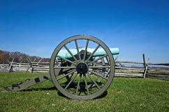 Civil War Cannon In Battlefield Stock Images