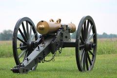 Civil War cannon on battlefield Royalty Free Stock Photo