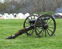 Civil War Cannon at the camp - Civil War Reenactment. Civil war cannon at reenactment camp Royalty Free Stock Image