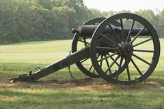 Civil war cannon closeup Stock Images