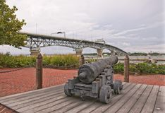 Civil War Cannon. Pulled from the York River in Virginia Stock Images