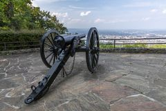 Civil War Cannon Scenic Overlook stock image
