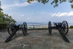 Civil War Cannon Scenic Overlook stock photos