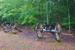Civil War Cannon Stands Guard Stock Image