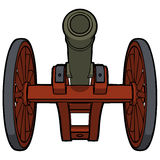 Civil war cannon view bottom Royalty Free Stock Photo