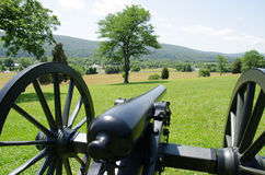 Civil War Cannon. In Virginia Royalty Free Stock Photo