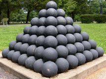 Civil War Cannonballs Royalty Free Stock Photo