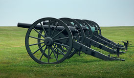 Civil War Cannons. In a row, Antietam, Maryland royalty free stock photos