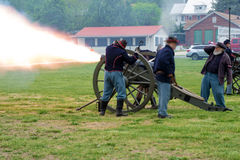 Free Civil War Cannons Firing At Battle Of Buchanan Royalty Free Stock Image - 70755326
