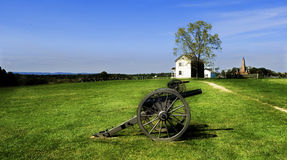 Civil War Cannons Manassas  Stock Photo