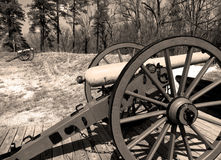 Civil War Canon. Virginia, U.S.A.; Canons from the Civil War Era Royalty Free Stock Photography