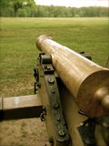 Civil War Canon. Civil war era canon facing an open battlefield Stock Photos