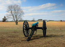 Civil War Canon Battlefield VA Royalty Free Stock Photo
