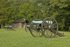 Civil War Canon, Chickamauga 8. A view of the Civil War Battlefield at Chickamauga Stock Photos