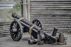 Civil War Canon. Functioning civil war canon inside of fort royalty free stock photos