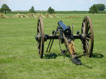 Civil war canon vintage. Old civil war canon being fired Stock Photo