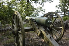 Civil war canons in the battlefield Royalty Free Stock Images