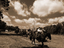 CIVIL WAR CAVALRY REENACTMENT Royalty Free Stock Photos