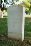 Civil War cemetery on Johnson`s island stock photo