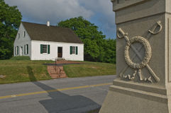 Civil War Church and Monument Royalty Free Stock Photo