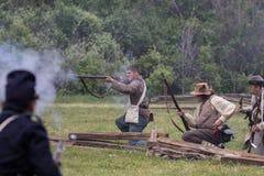 Civil War  Combat Stock Photo