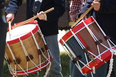 Civil War Drummers Royalty Free Stock Photos