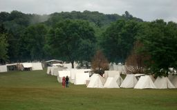 Civil War Encampment Stock Image