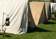 Civil War Encampment Stock Photo