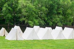 Civil War Encampment. Buchanan, VA - April 30th; Civil War Encampment at the Civil War History Weekend on April 30th, 2016, Buchanan, Virginia, USA Royalty Free Stock Images