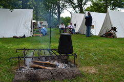 Civil War era camp Royalty Free Stock Image