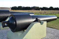 Civil war era cannon near Charleston South Carolina royalty free stock photos