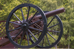 Civil war era cannon overlooks kennesaw mountain Stock Image